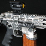 Custom Built AR Pistol with Buried in Skulls
