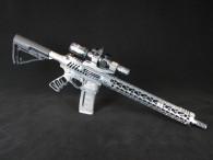 custom gun, custom ar, jawsarms, jaws arms, custom firearms, the jack skull lower, spikes tactical, duracoat, magpul